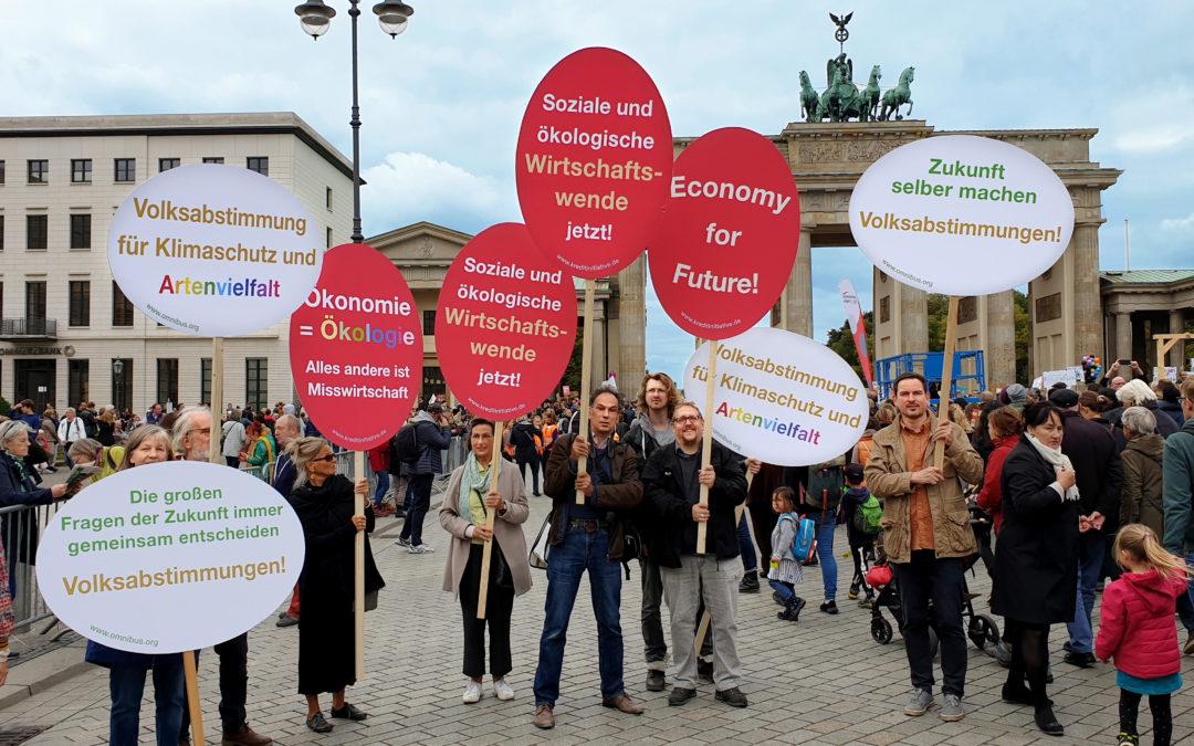 Die Europäische Kreditinitiative beim Klimastreik in Berlin